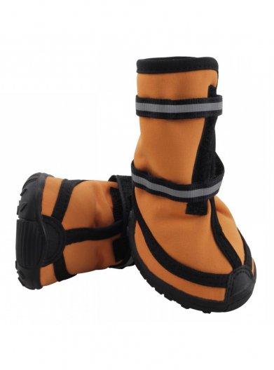 Фото Ботинки Triol оранжевые на липучке со светоотражающими полосками YXS138