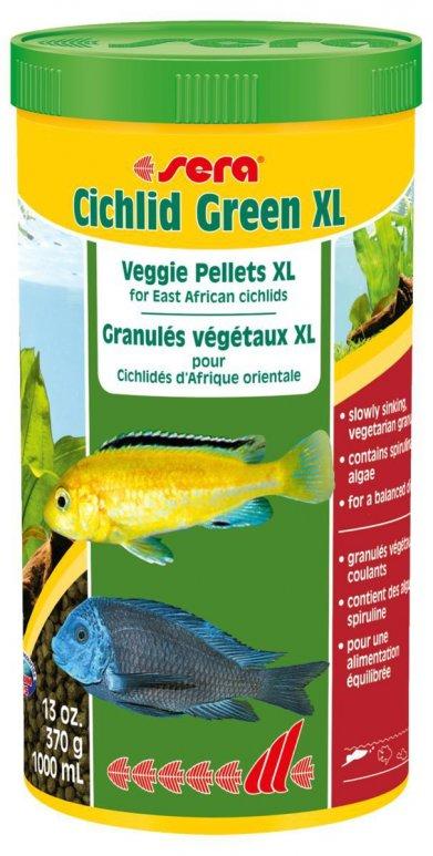 Фото Корм Sera для цихлид растительноядных Cichlid Green XL 1000 мл/ 370 г