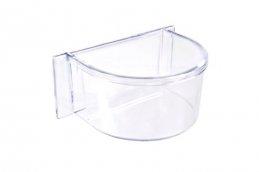 Фото Кормушка пластиковая Parrot прозрачная, 10,7*7,5*4,5 см