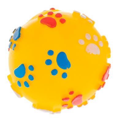 Фото 717001 Мяч с лапками и косточками, 11 см винил