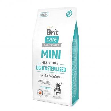 Фото Brit Care Mini Light&Sterilised беззерновой корм для собак миниатюрных пород с избыточным весом или стерилизованных