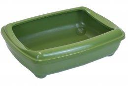 Фото Туалет для кошек ZooM глубокий, большой (под наполнитель) 50*38*13 см, оливковый