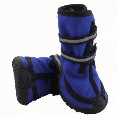 Фото Ботинки Triol синие на липучке со светоотражающими полосками YXS137