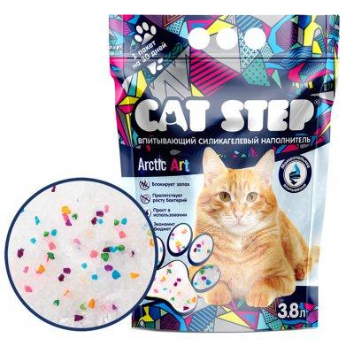 Фото Наполнитель впитывающий Cat Step силикагелевый Arctic Art, 3,8 л