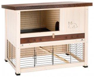 Фото Клетка Ranch 100 Rest для содержания кроликов на улице, деревянная Ferplast 95*64.5*84.5 см
