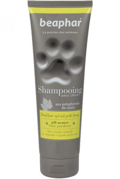 Фото Французский Beaphar премиум-шампунь Shampooing Demelant special poils longs 2в1 от колтунов для собак с длинной шерстью, 250 мл