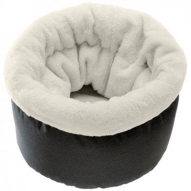 Фото Мягкая корзина Pouf для кошек (с мехом) Ferplast 45*45*35 см