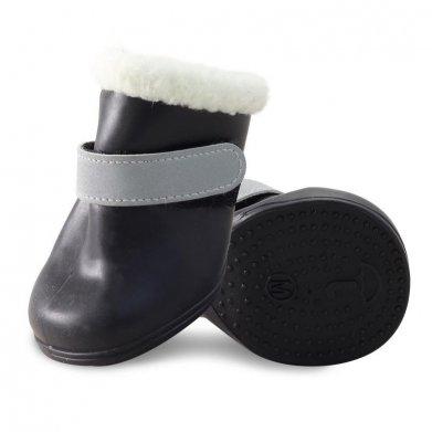 Фото Ботинки Triol для собак латекс с мехом YXS204, черные