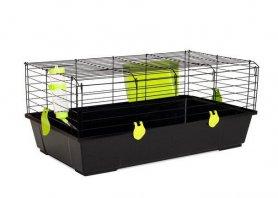 Фото Клетка Voltrega для кроликов и морских свинок (520), черная 80*46*35 см