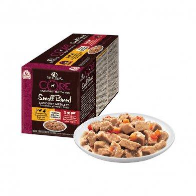 Фото Wellness аппетитное попурри из курочки и утки + курочки и говядины, ассорти, 510 г.
