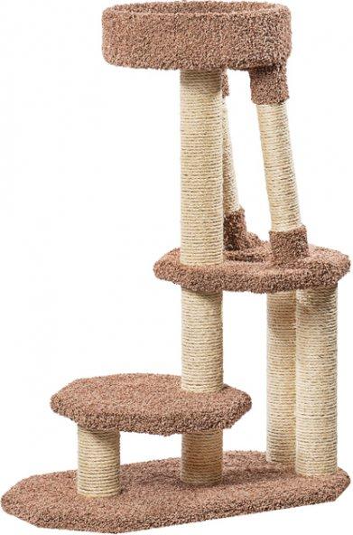 Фото Когтеточка Пушок «Двухъярусная для буйных кошек» (83*42*114 см)