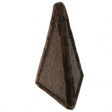 Фото Когтеточка-пирамида SBE1408 Pet Choice 24*24*40 см, коричневая