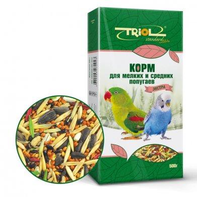 Фото Корм для мелких и средних попугаев Triol Standard экстра 500 г