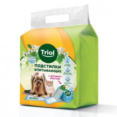 Фото Подстилки впитывающие с ароматом жасмина, 40*50 см (уп. 24 шт) Triol