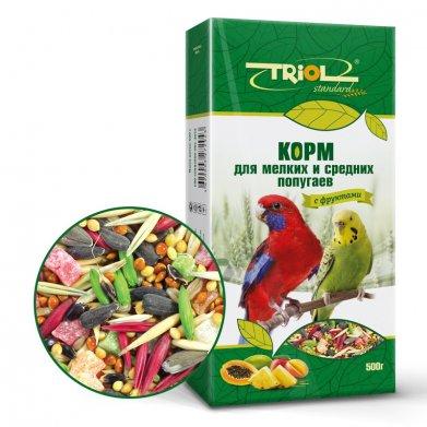Фото Корм для мелких и средних попугаев Triol Standard с фруктами 500 г