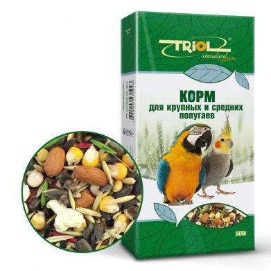 Фото Корм для крупных и средних попугаев Triol Standard 500 г