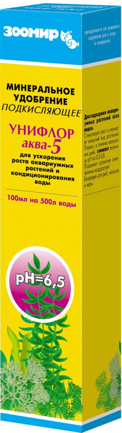 Фото Удобрение Зоомир для растений подкисляющее Унифлор Аква-5 100 мл