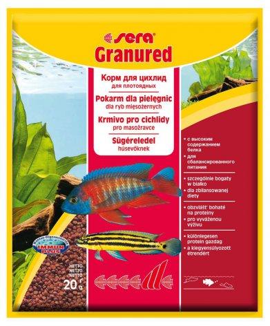 Фото Корм Sera для цихлид плотоядных Granured (улучшает окраску)