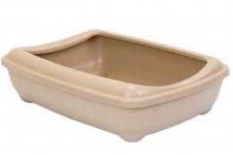 Фото Туалет для кошек ZooM глубокий, большой (под наполнитель) 50*38*13 см, бежевый